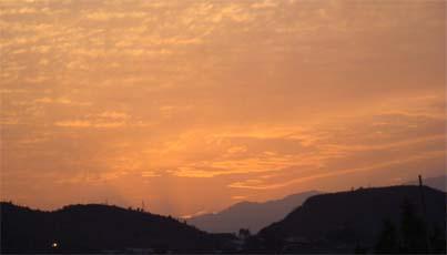 सूर्योदय की अरुणिमा